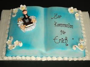 """Kommunions- oder Tauftorte """"Buch"""""""